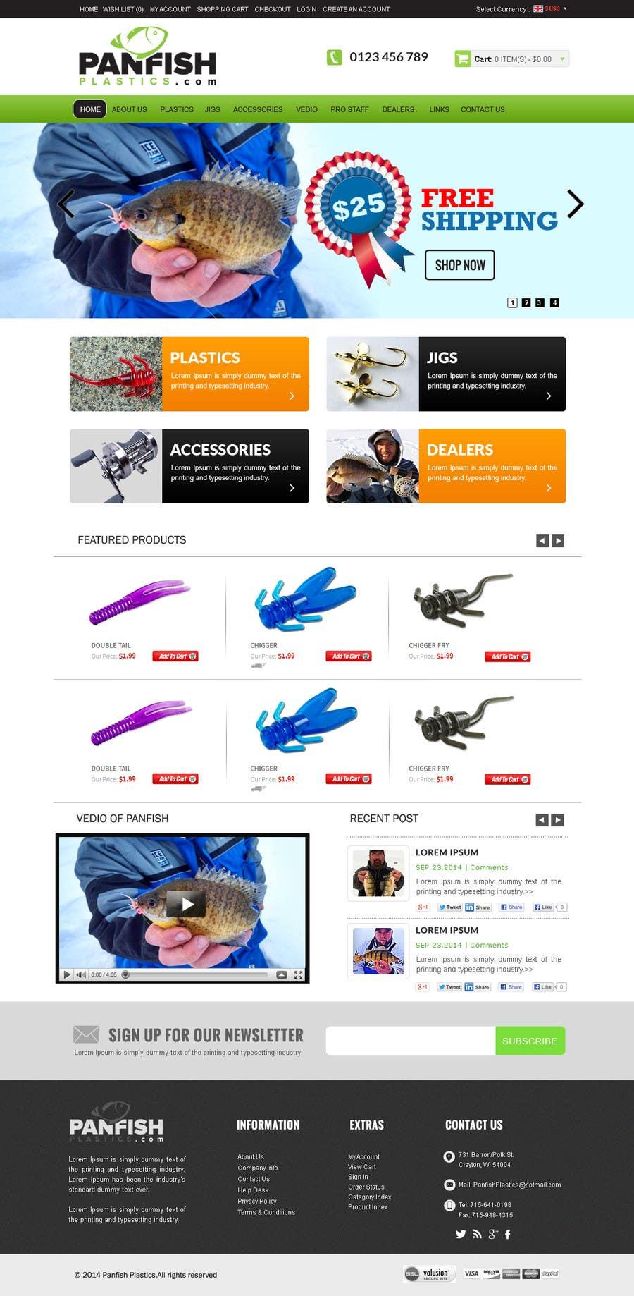 Penyertaan Peraduan #                                        31                                      untuk                                         Design a Website Mockup for ecommerce fishing store