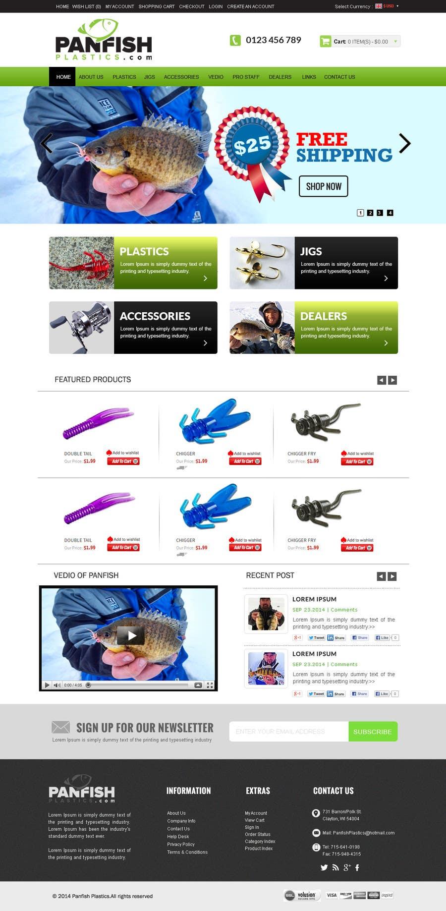 Penyertaan Peraduan #                                        33                                      untuk                                         Design a Website Mockup for ecommerce fishing store