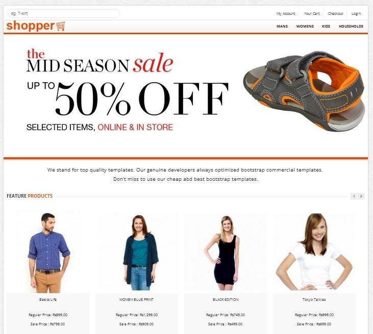 Penyertaan Peraduan #                                        4                                      untuk                                         Design a Website Mockup for ecommerce fishing store