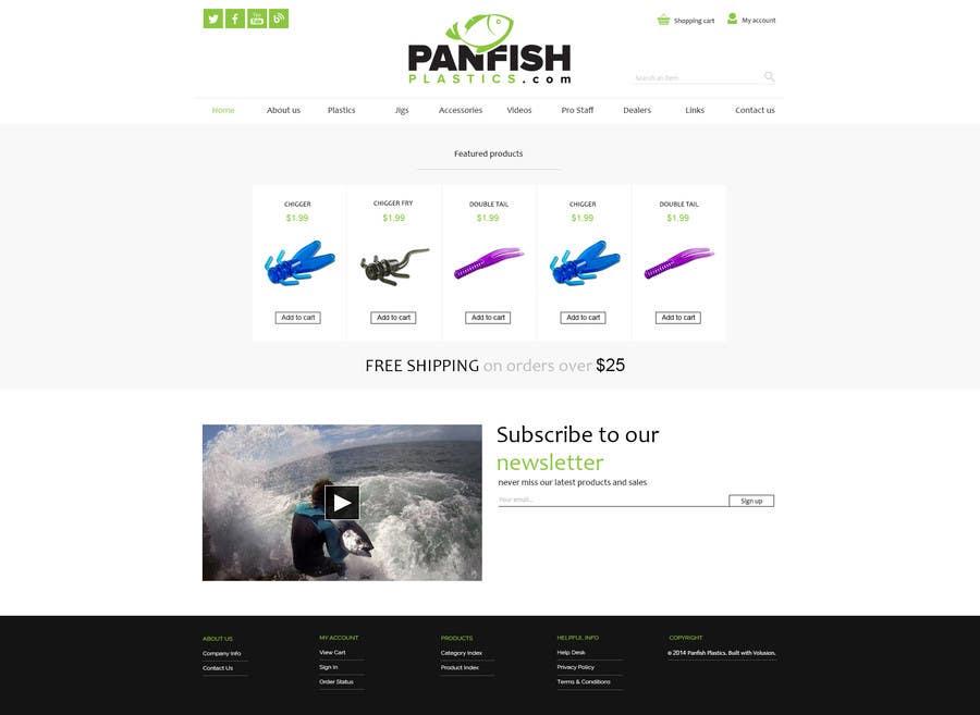 Penyertaan Peraduan #                                        11                                      untuk                                         Design a Website Mockup for ecommerce fishing store
