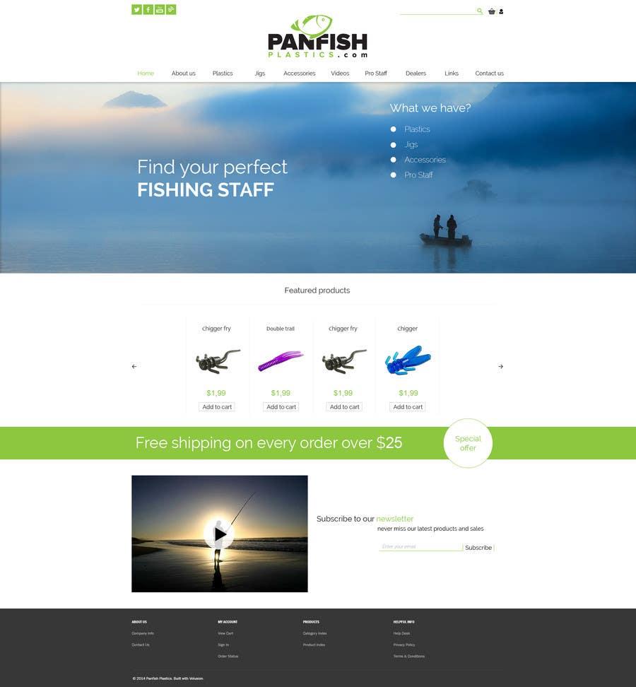 Penyertaan Peraduan #                                        15                                      untuk                                         Design a Website Mockup for ecommerce fishing store