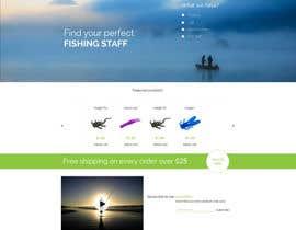 #15 untuk Design a Website Mockup for ecommerce fishing store oleh krasotina