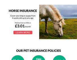 #73 for Design a Pet Insurance Website Mockup by mapabarragan
