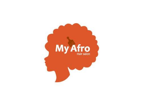"""Kilpailutyö #                                        23                                      kilpailussa                                         logo design for my """" MyAfro"""""""