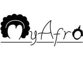 """Nro 24 kilpailuun logo design for my """" MyAfro"""" käyttäjältä iriakluna"""