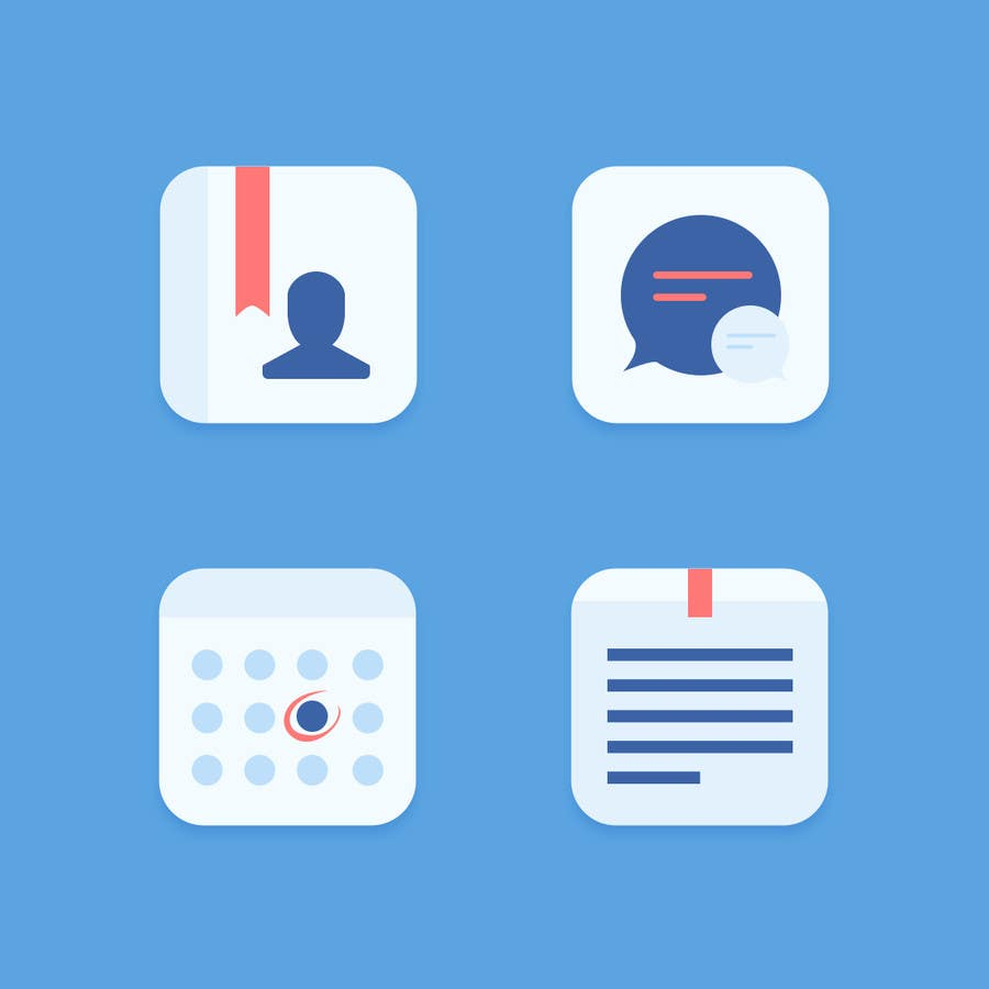 Proposition n°11 du concours 4 separate mobile app icons designs are needed