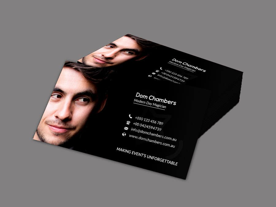 Entry #152 by afrojarani73 for Design some Business Cards - Magician ...