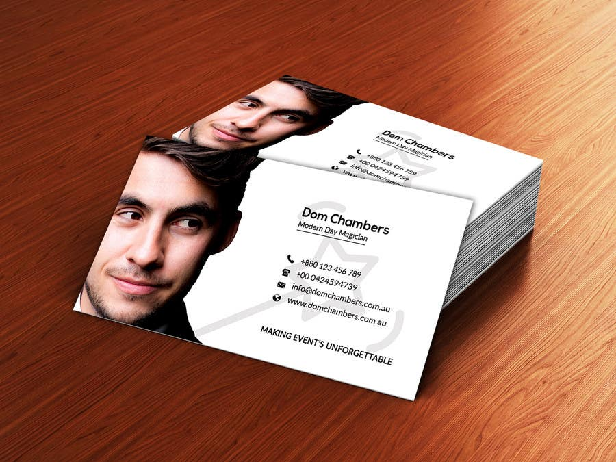 Entry #164 by afrojarani73 for Design some Business Cards - Magician ...