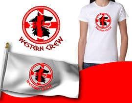 Nro 56 kilpailuun Wolf & Shield Design Logo for t-shirts, flags, mugs etc käyttäjältä mrjulius111