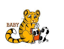 #27 for Design a Logo - baby skating tiger by Divax