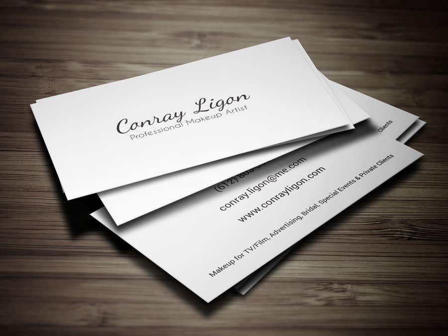 Proposition n°357 du concours Professional business card for male makeup artist.