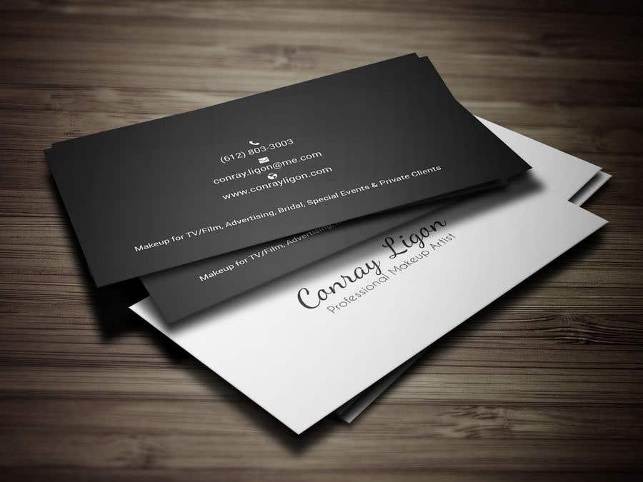 Proposition n°362 du concours Professional business card for male makeup artist.