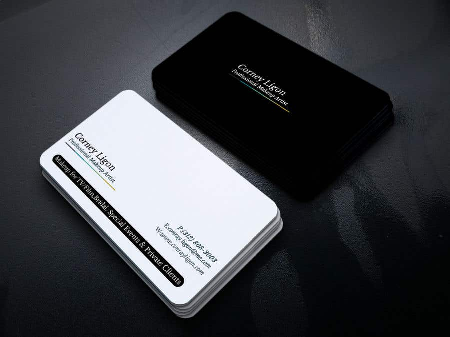 Proposition n°355 du concours Professional business card for male makeup artist.