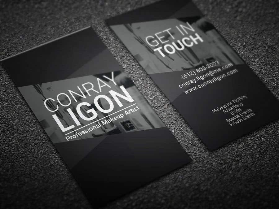 Contest Entry 207 For Professional Business Card Male Makeup Artist