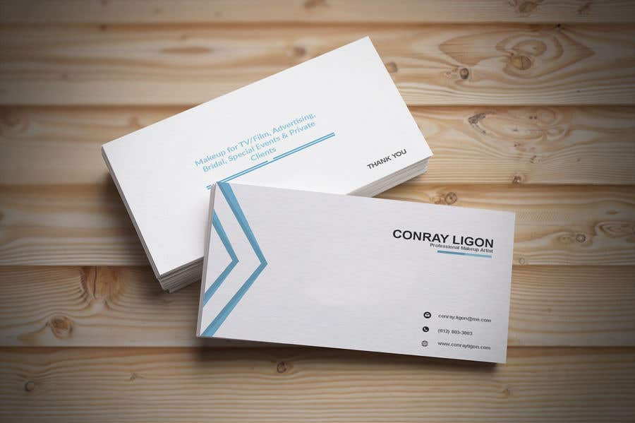 Proposition n°193 du concours Professional business card for male makeup artist.
