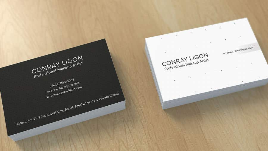 Proposition n°404 du concours Professional business card for male makeup artist.