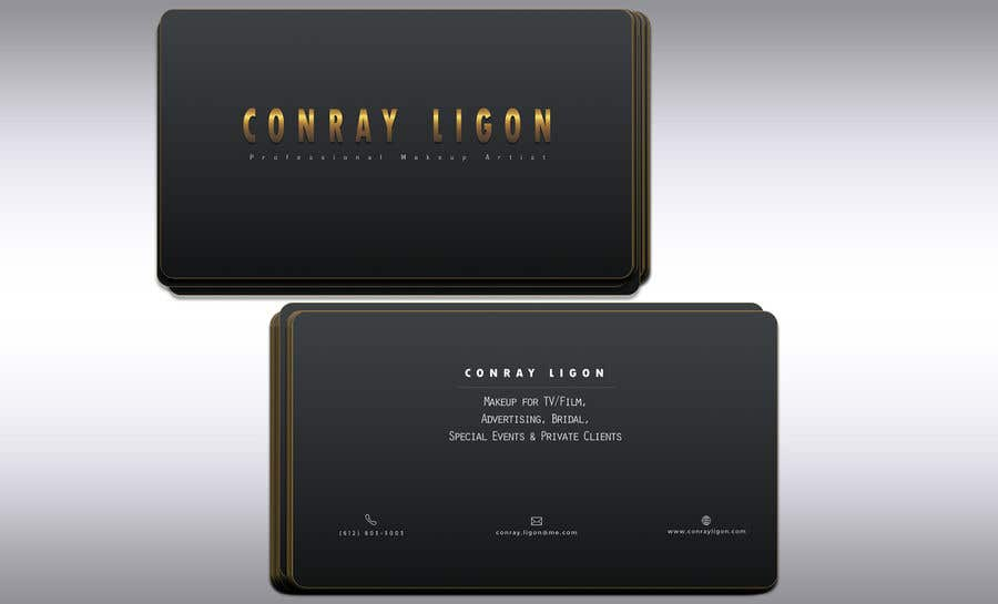 Proposition n°338 du concours Professional business card for male makeup artist.