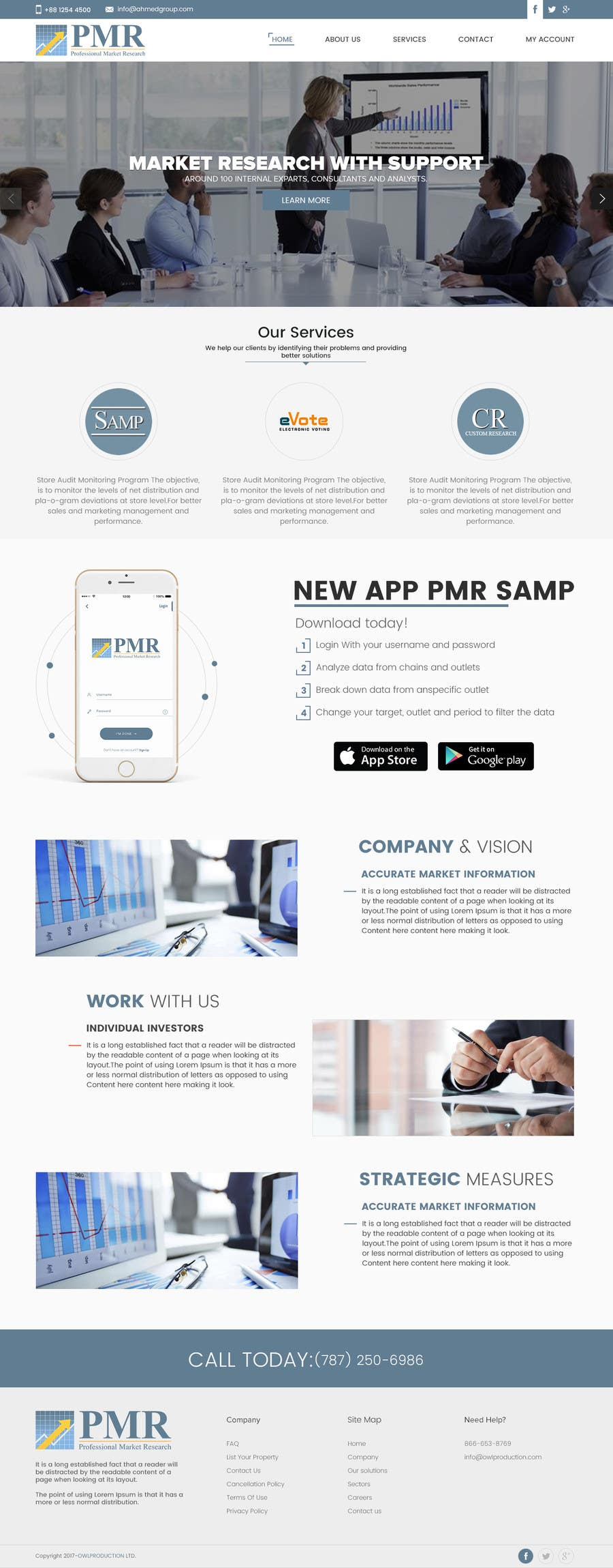 Proposition n°12 du concours Redesign a old website for a service company