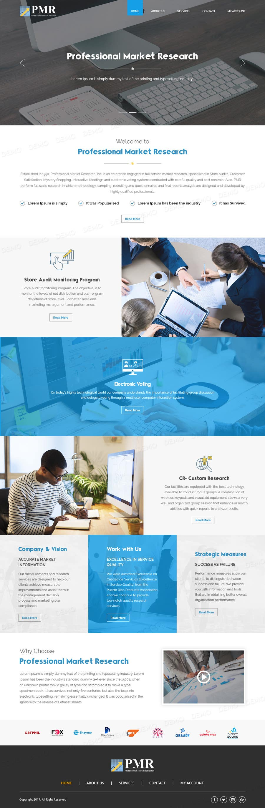 Proposition n°27 du concours Redesign a old website for a service company