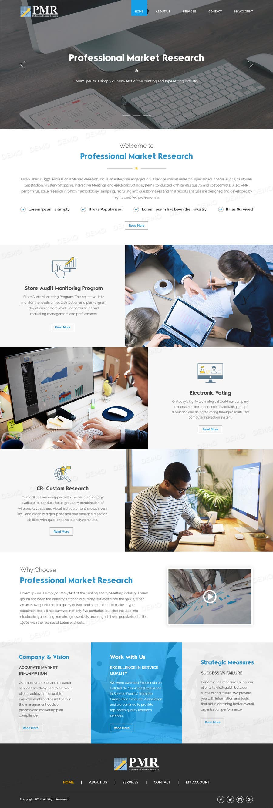 Proposition n°28 du concours Redesign a old website for a service company