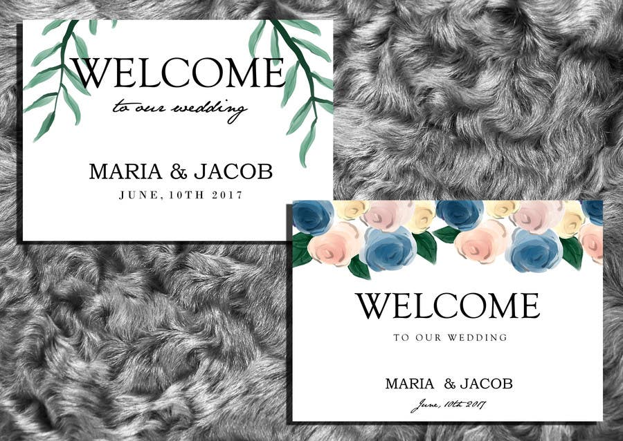 Contest Entry #14 for Floral themed wedding invitation set