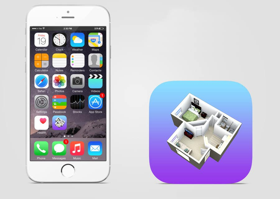 Design An App Icon For An Interior Designer Sold On The
