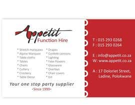 #9 for Business Card Design for Appétit Function Hire by designer12