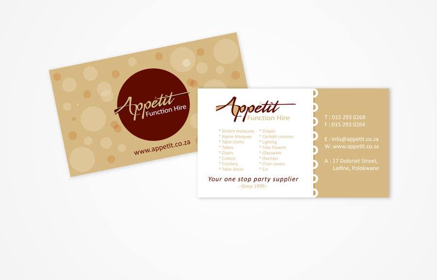 #10 for Business Card Design for Appétit Function Hire by designer12