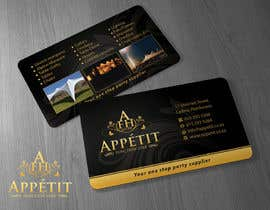 #55 pentru Business Card Design for Appétit Function Hire de către Brandwar