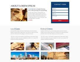 nº 20 pour Design a Website Mockup for Lawyer par mazcrwe7