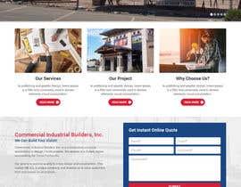 Nro 53 kilpailuun Design a Website Mockup for Commercial Builders käyttäjältä pixelwebplanet