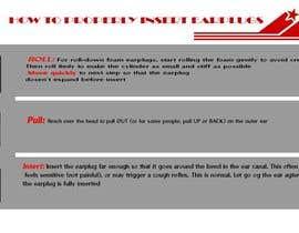 Nro 12 kilpailuun Earplug Instructions - Poster Design Comp käyttäjältä kawsaradi