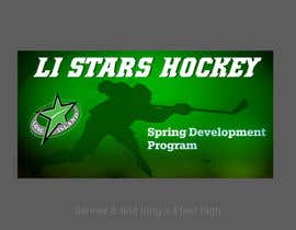 nº 135 pour Hockey team spring program advertizing Banner  8'X4' par alomgirdesigner