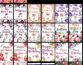 nº 59 pour Develop 16 new FLOWER MAGIC Greeting cards for Mother's Day/birthday par Kitteehdesign