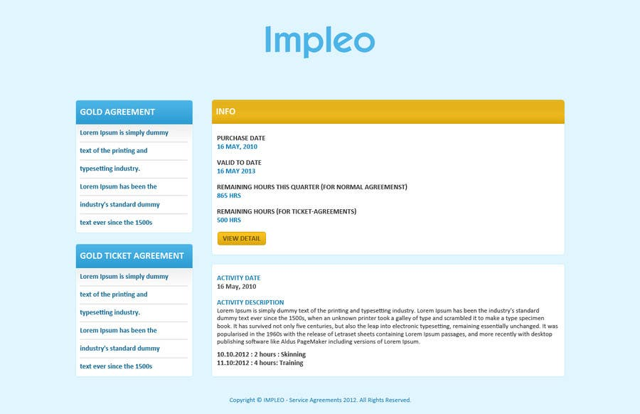 #44 for Website Design for Impleo - serviceagreements by tania06