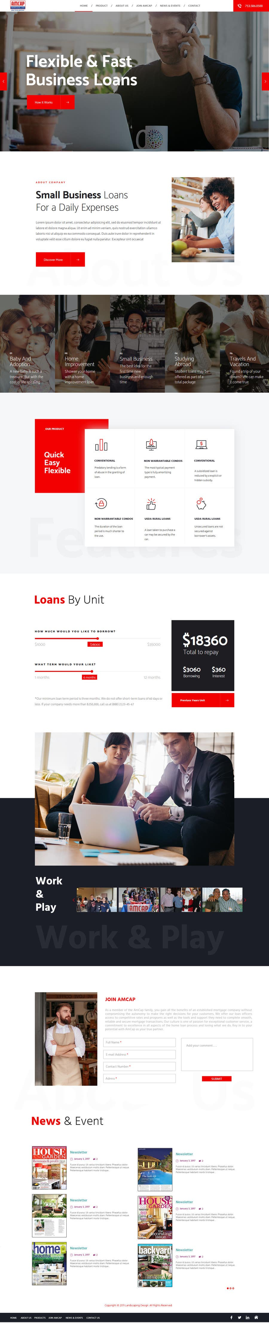 Proposition n°23 du concours Design a Website Mockup - HOMEPAGE ONLY - for a Mortgage Company