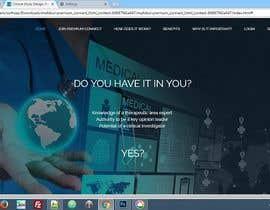 nº 2 pour Homepage Design for a Medical Hub par saffu53