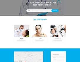 nº 1 pour Homepage Design for a Medical Hub par cretiveman00