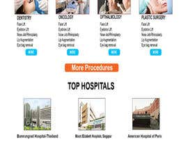 nº 10 pour Homepage Design for a Medical Hub par mirhasanbd