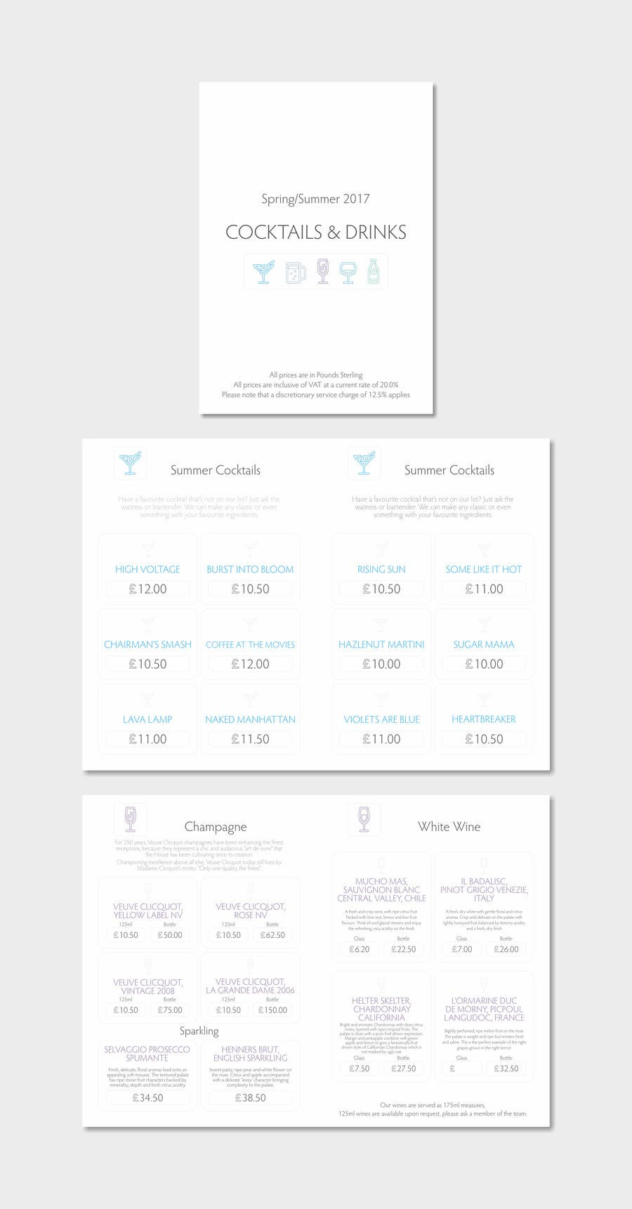 entry 43 by fler for cocktail and drinks menu template design
