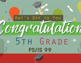 nº 15 pour Create a Banner for a School Graduation par milarohma