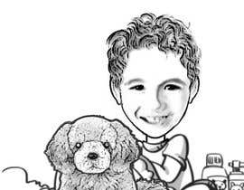 nº 7 pour Create custom cartoon of little boy and dog driving in a race car while they are both smiling par vasilmc7