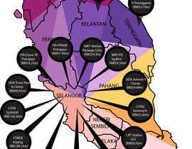 nº 22 pour Infographic Map par hanisimani