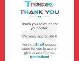nº 7 pour E commerce Order Thank You Notes par RainbowVivid