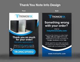 nº 9 pour E commerce Order Thank You Notes par lowie14