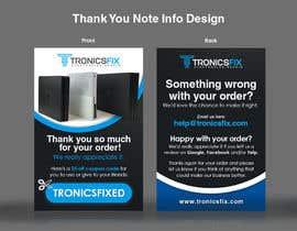 nº 12 pour E commerce Order Thank You Notes par lowie14