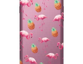 nº 21 pour Flamingo and pineapple repeating pattern for a phone case. par veranika2100