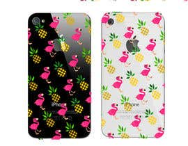 nº 29 pour Flamingo and pineapple repeating pattern for a phone case. par CiroDavid