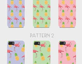 nº 12 pour Flamingo and pineapple repeating pattern for a phone case. par sketchdom