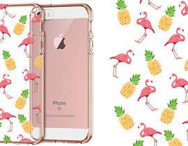 nº 24 pour Flamingo and pineapple repeating pattern for a phone case. par sketchdom
